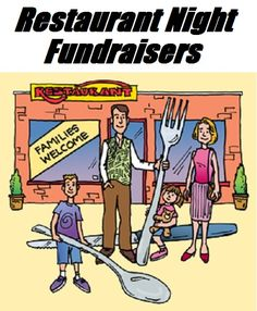 Pinner before: Fundraiser Help: Restaurant Night Fundraisers - A Restaurant Night fundraiser is an easy way to raise funds because its a simple revenue share idea that's a win/win for your group, your supporters, and for the restaurant. Pta School, School Fundraisers, School Craft, Sunday School, Restaurant, Fundraising Events, Fundraising Ideas, Nonprofit Fundraising, Relay For Life