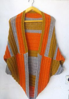 crochet easy shrug tutorial
