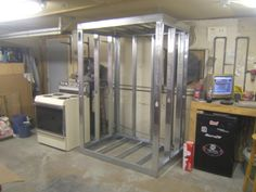 Click this image to show the full-size version. Cool Welding Projects, Diy Welding, Metal Projects, Powder Coating Oven, Oven Diy, Steel Bucket, Paint Booth, Gun Storage, Metal Tools