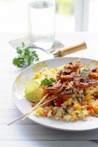 Mango salade ontmoette Gegrilde Curry Shrimp - The Cooking Jar