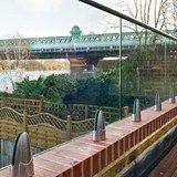 Baranda de escalera de acero inoxidable y vidrio EASY GLASS® MOD 6000 - 6400 - Q-RAILING ITALIA