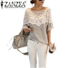 Hot Sale Blusas 2016 verão novas mulheres coreanas oco Lace Crochet cabo Collar Tops Batwing luva O pescoço Tops t Plus Size(China (Mainland))