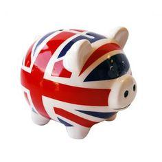 Tirelire cochon London Drapeau Uk