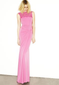 MARABEL - LACE PLEATED FISHTAIL GOWN