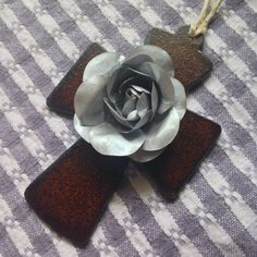 Rustic Rose Cross by BeingReMade on Etsy