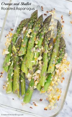 Orange and Shallot Roasted Asparagus - a simple side dish with bright ...