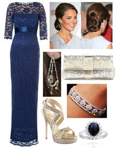 """""""Duchess of Cambridge at a formal gown event while pregnant, requested by anon"""" by fashionablyroyal on Polyvore"""