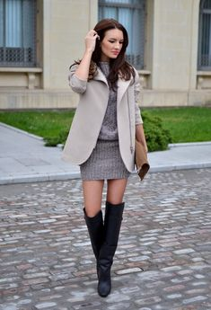 18 Street Style Ideas With Sweater Dresses