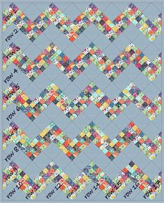 Moda Bake Shop: Bloomin' Peaks Quilt Can't you see this with a cheddar background?