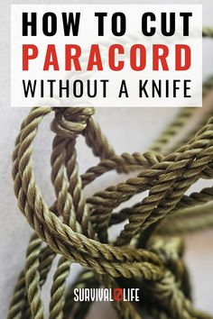 Did you know that cutting paracord without using a knife is possible? Today, you're going to learn an awesome paracord trick that can be very useful in survival situations! #paracord #paracordtips #survivalhacks #survivaltips #survivallife Survival Hacks, Survival Life, Paracord Projects, Save Yourself, Knowing You, Awesome