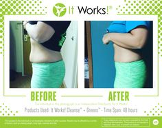 You rocked those cute reversible pants BEFORE...but WOW are we floored with your AFTER! Check out these amazing results 48 hours after cleansing and taking our Greens! #BOOM