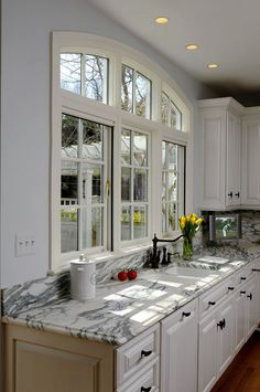 arched transom window in McLean, VA kitchen remodel
