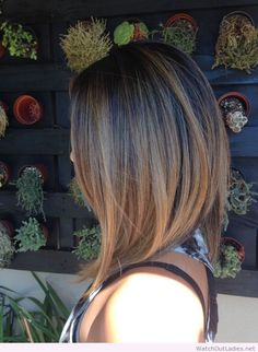 Great cut and color, bronde long bob