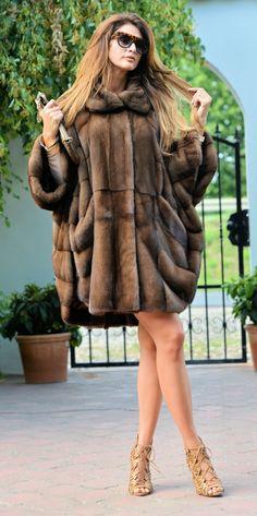 mink furs - royal saga mink fur swinger coat poncho