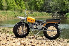 I've always been fascinated by the 2WD Rokon Trailbreaker - I've seen it advertised in those little B ads in the back pages of outdoors magazines for decades.  Its got charmingly oddball looks and can go virtually anywhere you point it.