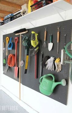s 14 space saving storage ideas that ll make your house feel much bigger, storage ideas, Make a pegboard wall in the garage