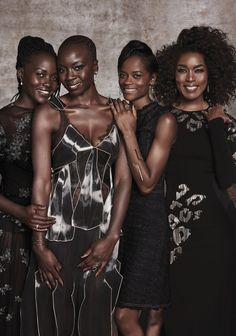 """Lupita Nyong'o, Danai Gurira, Letitia Wright and Angela Bassett for Essence Magazine Happy Black History Month! """