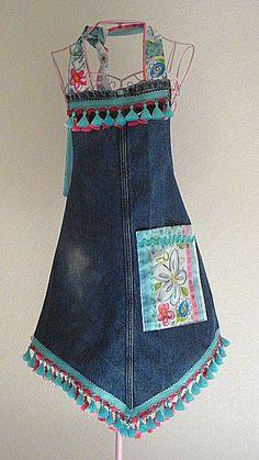 modelos de avental jeans                                                                                                                                                                                 Mais
