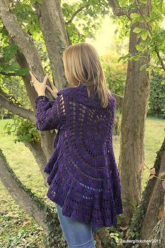Crochet Lace Crochet Circle Jacket Free Pattern - We have put together a collection of Crochet Circular Jacket Pattern Free Ideas that you are going to love. This is one of our most popular posts, check them out now. Crochet Jacket, Crochet Cardigan, Crochet Shawl, Lace Jacket, Crochet Stitches, Crochet Sweaters, Crochet Shrugs, Crochet Vests, Crochet Afghans