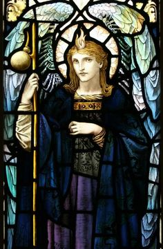 """St Raphael"" by William Glasby (1863-1941) www.vitraux.co.uk"
