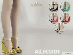 The Sims Resource: Madlen Alicudi Shoes by MJ95 • Sims 4 Downloads