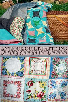 For vintage quilt patterns any fan of Downton Abbey would love, check out this quilt collection. Amish Quilt Patterns, Vintage Quilts Patterns, Antique Quilts, Pattern Blocks, Scandinavian Quilts, Quilting Projects, Craft Projects, Quilting Tips, Quilting Tutorials