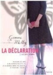 La Déclaration : L'Histoire d'Anna - Gemma Malley Superbe livre d'anticipation ****