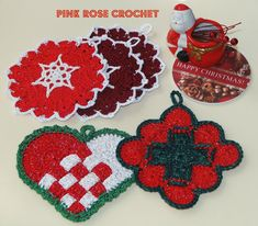Pink Rose Crochet: Paste Holiday Pans Grab and Grip Christmas Pots