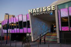 How you light your signage is just as important as how you light your interior. Matisse Beach Club. #LightingOptionsAustralia, #LEDlighting, #LightingDesign, #SignageLighting http://www.LightingOptionsAustralia.com.au/