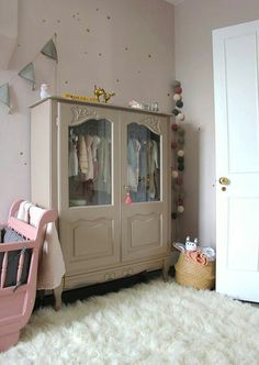 22 ideas baby bedroom furniture colour for 2019 Baby Bedroom Furniture, Kids Room Furniture, Colorful Furniture, Rooms Home Decor, Baby Room Decor, Nursery Room, Girl Nursery, Grey Cabinets, Little Girl Rooms