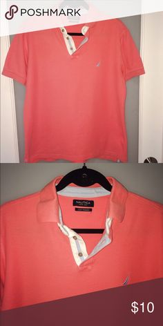 Nautica Mens Polo Shirt. Coral color. Nautica mens polo shirt. Coral color. Good condition. Size M. Nautica Shirts Polos