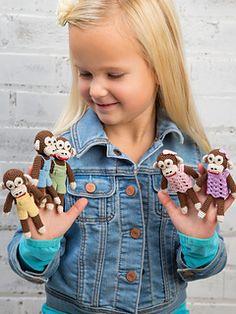 Ravelry: Five Little Monkeys Finger Puppets pattern by Rania Dabboura