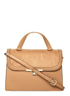 Tan Top Handle Satchel bag