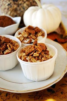 Pumpkin spice granola.  How good would this smell cooking???