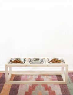 diy modern pet bowl stand   almost makes perfect