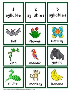 Rainforest-Literacy Center Fun (Jungle). Kit contains worksheets that separates subjects as well as breaking down compound words. Fun Jungle theme will engage students.