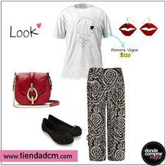 Lucite con este look increíble y muy chic. ϟϟ  Encontrá esta remera en www.tiendadcm.com/venta/Remera+Vogue/86394