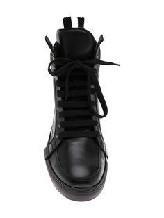 leather hi-top on Wantering #mens #leather #hi-top #sneakers #black #love #wantering #menswear #mensstyle