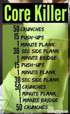 12 Amazing Weight Loss Ab Workouts | Our Favourite Pinterest Abs Workouts!