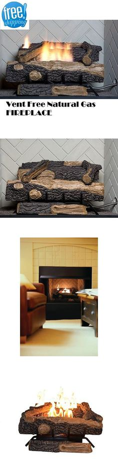 Fireplaces 175756: Natural Gas Fireplace Vent Free Logs W Thermostat Insert 24 Inch Oakwood Heater -> BUY IT NOW ONLY: $209.9 on eBay!