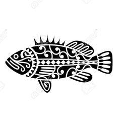 Um Peixe Inspirado Por Tatuagens Tribais Maori Royalty Free Cliparts, Vetores, E Ilustrações Stock. Image 16938216.