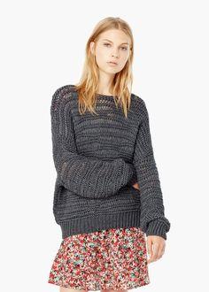 Mango Open Knit Sweater