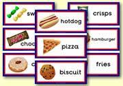 Unhealthy Food Flashcards: zelf Ned. tekst toevoegen