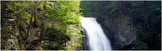 Bushkill Falls in the Poconos. Eight beautiful falls with breathtaking views and walking paths.