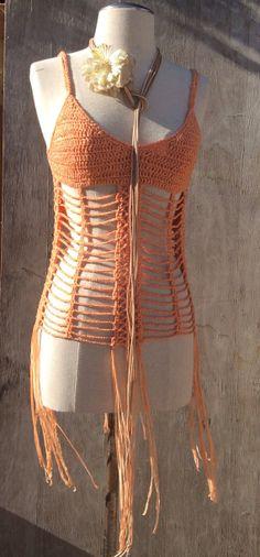 Crochet Summer Top Festival Boho Chic by KisKissay on Etsy, $45.00