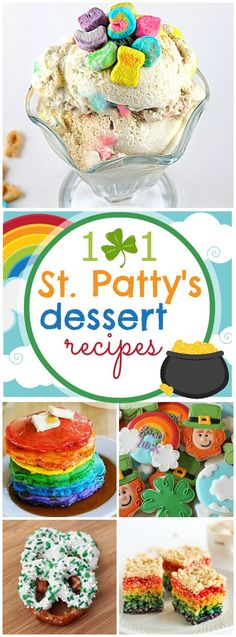 101 St. Patrick's Day Desserts--- @Carrie Smith Look at all the rainbows!!! :)