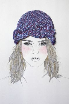 "Izziyana Suhaimi ""paints"" with wool."