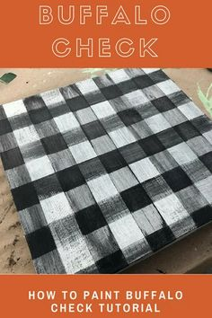 I think buffalo check plaid pattern is the painting technique that I get asked about most often. The pattern is so on trend and I've pretty much mastered the look I like and it's not too hard! I promise you totally got this... Diy Hanging Shelves, Diy Wall Shelves, Mason Jar Diy, Mason Jar Crafts, Diy Home Decor Projects, Diy Projects To Try, Craft Projects, Chalk Paint Mason Jars, Wine Bottle Crafts