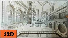 1 point perspective drawing tutorial - YouTube