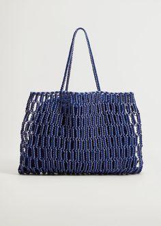 Fashion Days, Fashion Beauty, Shopper Bag, Tote Bag, Mango France, Braid Designs, Macrame Bag, Inside Bag, Handmade Design